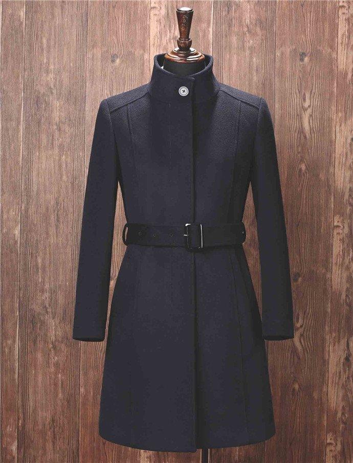 立领羊绒大衣